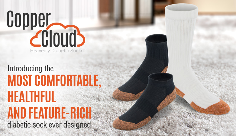 Introducing the most comfortable healthful and feature-rich diabetic sock ever designed
