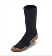 Crew Length Black Copper Cloud Socks