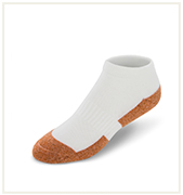 No Show White Copper Cloud Socks